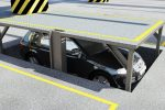 Auto bajo nivel del piso. Elevauto subterraneo